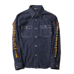 CUT RATE L/S DENIM SHIRT INDIGOBLUE CR-17AW028