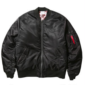 BORN X RAISED MA-1 JACKET  BLACK