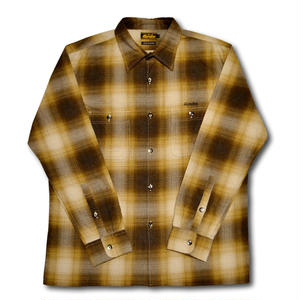 HARDEE OMBRE CHECK L/S SHIRT BROWN