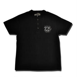 HARDEE 220 HENLEY T-SHIRT BLACK