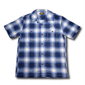 HARDEE SOUTH S/S CHECK SHIRT BLUE