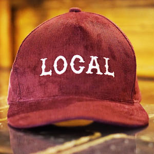 CORDUROY LOCAL CAP BURGUNDY