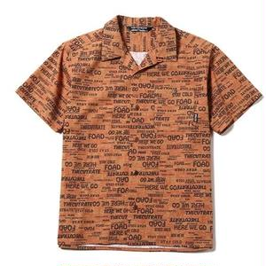 CUT RATE S/S ALLOVER PATTERN SHIRT ORANGE