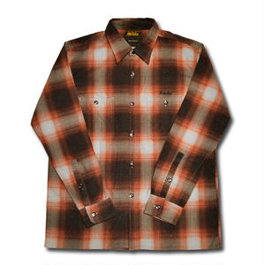 HARDEE OMBRE CHECK L/S SHIRT RED