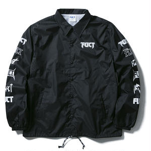 FUCT SSDD MULTI PRINT COACH JACKET BLACK