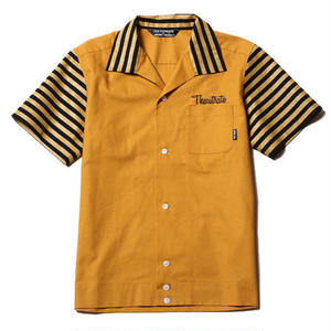 CUT RATE S/S BOWLING SHIRT MUSTARD CR-17SS050