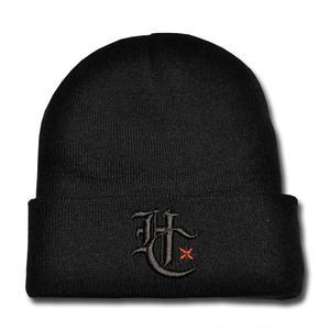 HARDEE HC+ LOGO KNIT CAP BLACK&BLACK
