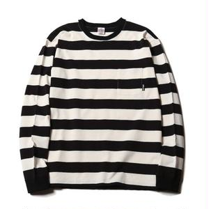 CUT RATE L/S BORDER T-SHIRT BLACK CR-17SS019