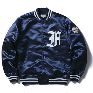 FUCT SSDD FIRST DIVISION SATIN JACKET NAVY