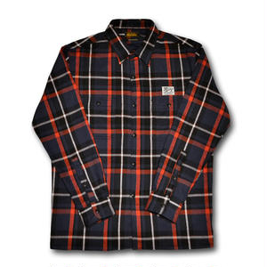 HARDEE FLANNEL L/S CHECK SHIRT NAVY