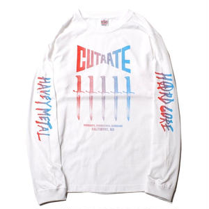 CUT RATE VERSUS L/S PRINT T-SHIRT WHITE CR-18SS021