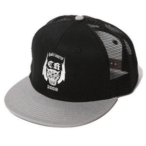 CUT RATE EMBROIDERY MESH CAP BLACK&GRAY CR-17SS063