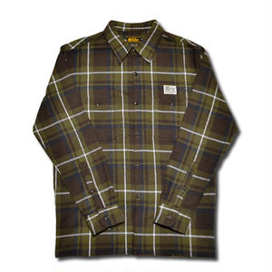 HARDEE FLANNEL L/S CHECK SHIRT GREEN