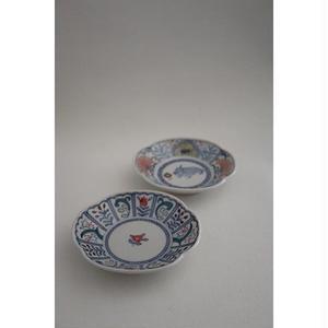 伊藤由紀子 九谷焼 キリシタン染付上絵小皿セット(二枚組)