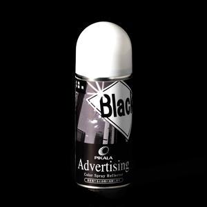 広告看板用 再帰反射性カラースプレー 100ml入り 黒