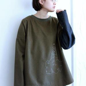 アイアムトニー刺繍プルオーバー / khaki