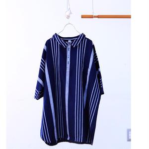 ストライプパジャマシャツ / kon