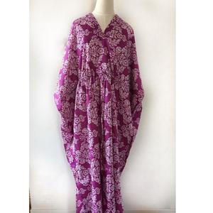 ムルムル綿インド カフタンドレスmulumulu cotton caftan dres