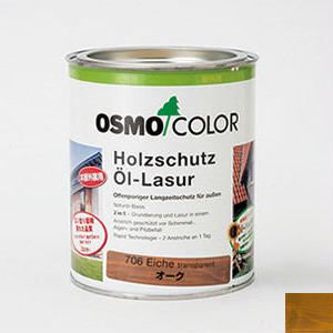 【オイル(塗料)/オーク色(明るめ)】 オスモカラー♯706 ウッドステインプロテクターオーク色 0.75ℓ