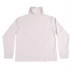 LOOPWHEEL HIGH NECK L/S TEE -OATMEAL-