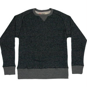 LOOPWHEEL CREW SWEAT -MIX BLACK-