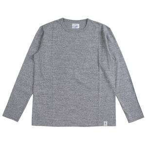 LOOPWHEEL L/S TEE -MIX GRAY-