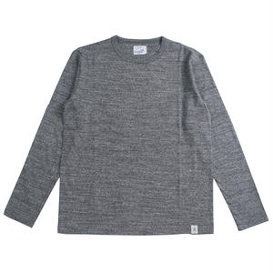 LOOPWHEEL L/S TEE -MIX CHARCOAL-