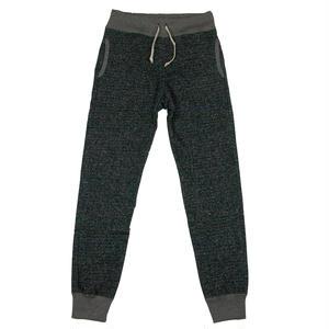 LOOPWHEEL SWEAT PANTS -MIX BLACK-