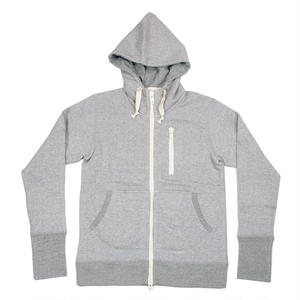 LOOPWHEEL ZIP PARKA -MIX GRAY-