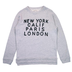 LOWGAUGE INLAY L/S TEE CITY -MIX GRAY-