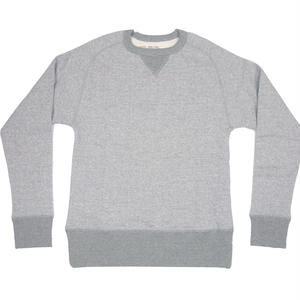 LOOPWHEEL CREW SWEAT -MIX GRAY-
