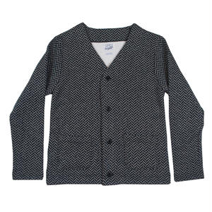 HERRINGBONE FLEECE CARDIGAN