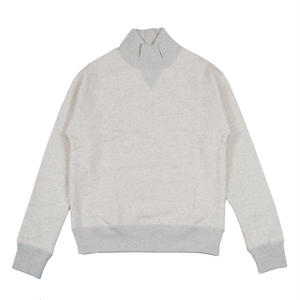 LOOPWHEEL TURTLE NECK SWEAT -OATMEAL-