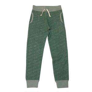 S  LOOPWHEEL SWEAT PANTS -MIX GREEN-