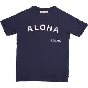 S  LOW GAUGE INLAY ALOHA S/S TEE -NAVY-