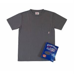 STANDARD PACK COLOR POCKET TEE -CHARCOAL-