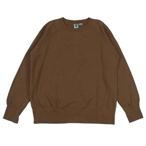 7.5 oz. USA FLEECE RAGLAN SWEAT -BROWN-
