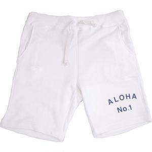 S  LOW GAUGE INLAY ALOHA SHORTS -WHITE-
