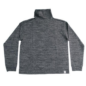 LOOPWHEEL HIGH NECK L/S TEE -MIX CHARCOAL-