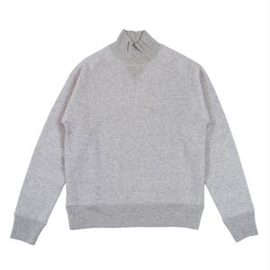 LOOPWHEEL TURTLE NECK SWEAT -MIX GRAY-