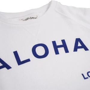 S  LOW GAUGE INLAY ALOHA S/S TEE -WHITE-