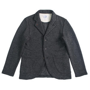 TWEED NEP FLEECE JACKET -CHARCOAL-