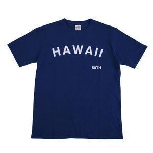 16/- JERSEY PRINT TEE HAWAII -NAVY-