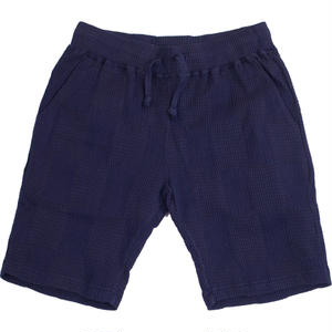 PATCHWORK JACQUARD SHORT PANTS -NAVY-