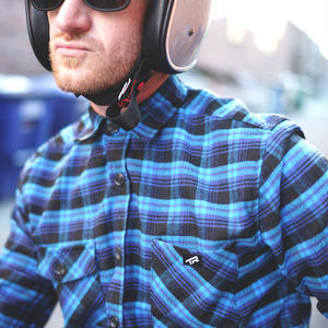 Huckit Flannel (Blue Plaid)