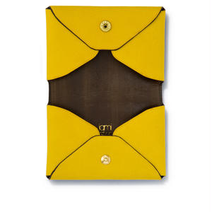 """"""" LETTER FROM """" Card case W / Yellow"""