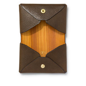 """ LETTER FROM "" Card case W / Dark Brown"