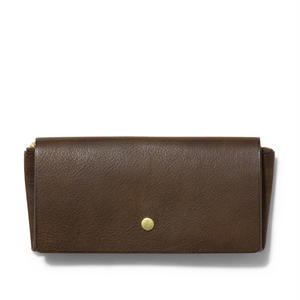 """ ORIGAMI WALLET "" Long / Dark Brown"