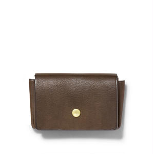 """ ORIGAMI WALLET "" Minimal / Dark Brown"