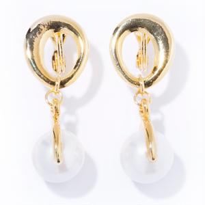 chain pearl earring